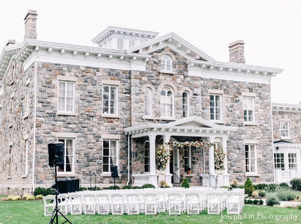 Indian wedding ceremony venue in Greenport, NY Indian Fusion Wedding by Joseph Lin Photography