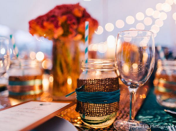 Indian wedding decor floral in Greenport, NY Indian Fusion Wedding by Joseph Lin Photography