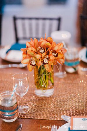 Indian wedding floral bouquet in Greenport, NY Indian Fusion Wedding by Joseph Lin Photography