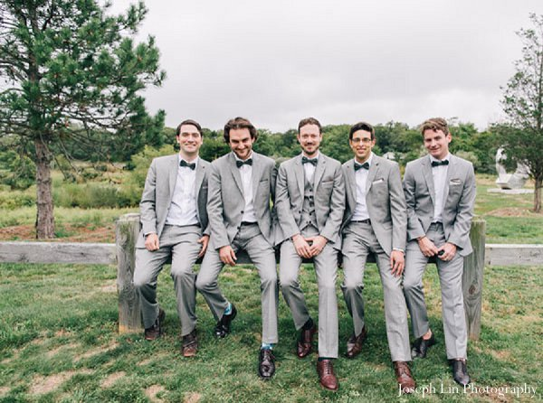 Indian wedding groomsmen portraits in Greenport, NY Indian Fusion Wedding by Joseph Lin Photography