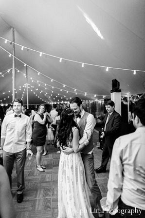Indian wedding reception dance in Greenport, NY Indian Fusion Wedding by Joseph Lin Photography