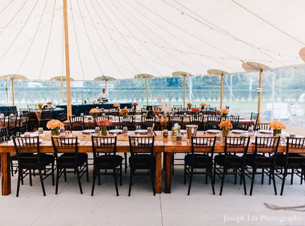 Indian wedding reception venue in Greenport, NY Indian Fusion Wedding by Joseph Lin Photography