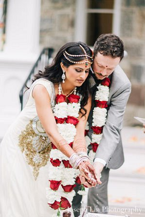 Indian wedding traditional ceremony in Greenport, NY Indian Fusion Wedding by Joseph Lin Photography