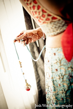 Indian bridal choli in North Brunswick, NJ Indian Wedding by Josh Wong Photography