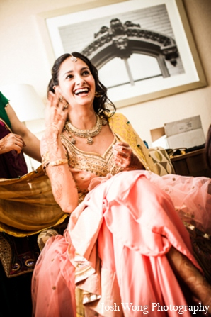 Indian weddin lengha in North Brunswick, NJ Indian Wedding by Josh Wong Photography