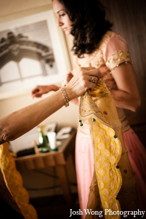 Indian wedding bride choli in North Brunswick, NJ Indian Wedding by Josh Wong Photography