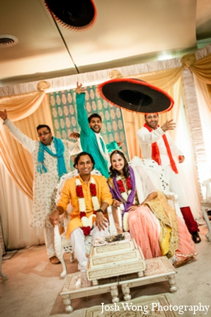 Indian wedding ceremony groomsmen in North Brunswick, NJ Indian Wedding by Josh Wong Photography