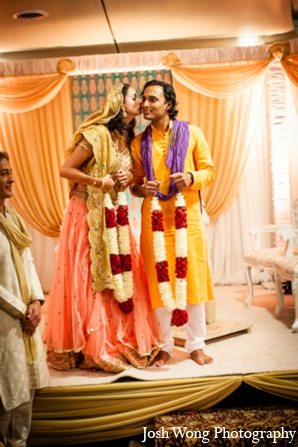 red,gold,teal,yellow,baby pink,ceremony,traditional indian wedding,indian wedding traditions,indian wedding outfits,indian wedding outfits for brides,www.joshwongphotography.com,© Josh Wong Photography,Josh Wong Photography