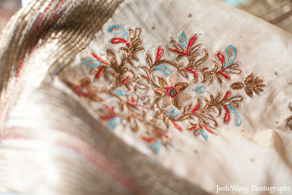 Indian wedding embroidery in North Brunswick, NJ Indian Wedding by Josh Wong Photography