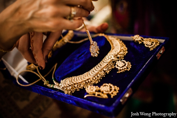 Indian wedding jewelry set in North Brunswick, NJ Indian Wedding by Josh Wong Photography