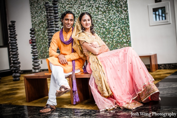 Wedding portrait couple in North Brunswick, NJ Indian Wedding by Josh Wong Photography