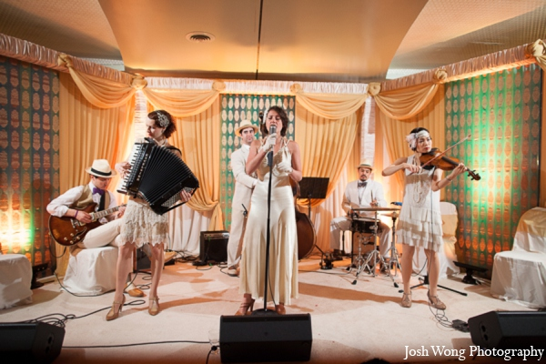 Indian wedding reception band in North Brunswick, NJ Indian Wedding by Josh Wong Photography