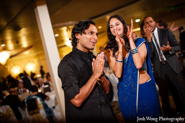 Indian wedding reception bride groom in North Brunswick, NJ Indian Wedding by Josh Wong Photography