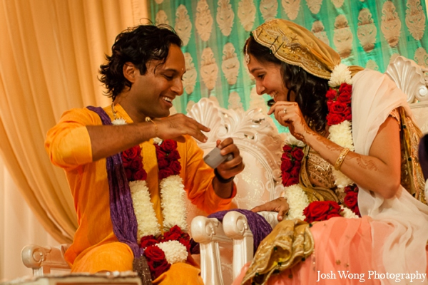 red,orange,white,yellow,baby pink,ceremony,traditional indian wedding,indian wedding traditions,Josh Wong Photography
