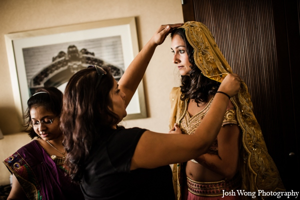 Indian wedding veil in North Brunswick, NJ Indian Wedding by Josh Wong Photography