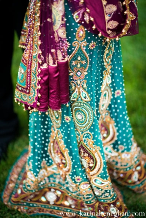 Indian-wedding-bridal-lengha-teal-purple