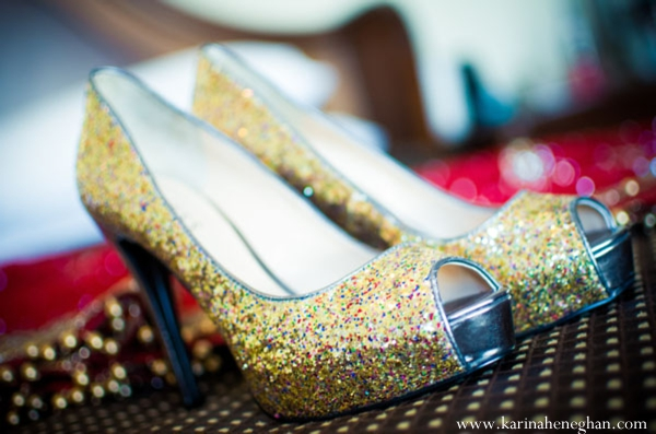 Indian-wedding-bridal-shoes-inspiration-gold-glitter
