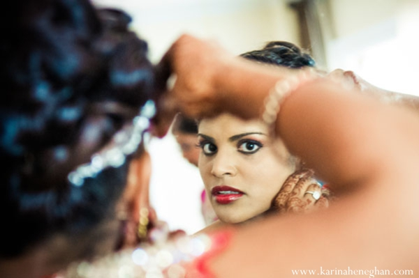 Indian-wedding-bride-getting-ready-hair-makeup