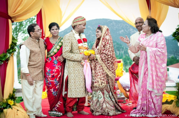 Indian-wedding-bride-groom-at-ceremony