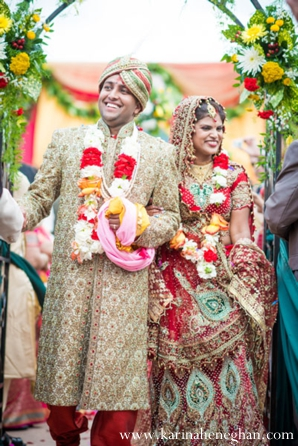 Indian-wedding-bride-groom-ceremony-just-married