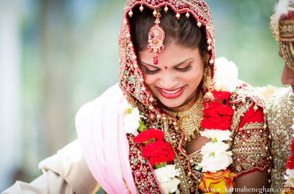 Indian-wedding-bride-looks-happy-ceremony