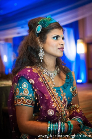 Indian-wedding-bride-portrait-in-reception-lengha