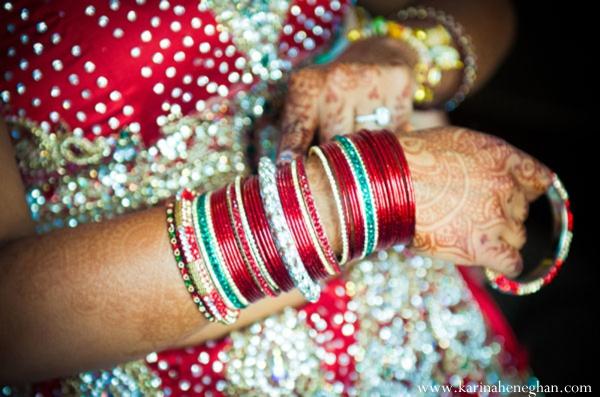 Indian-wedding-bride-prepares-for-ceremony-bangles