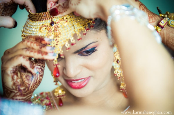 Indian-wedding-bride-preparing-for-ceremony