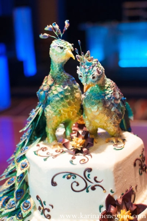 Indian-wedding-cake-birds-on-top