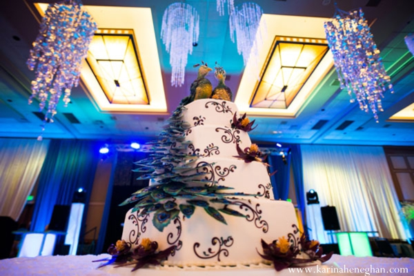 Indian-wedding-cake-reception-cake-lighting