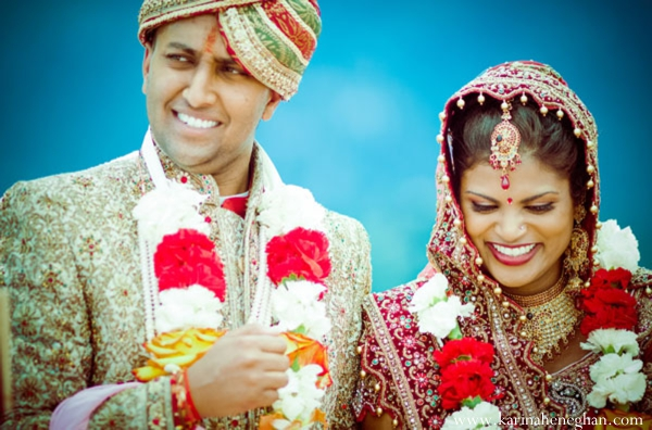 Indian-wedding-ceremony-happy-couple-colorful