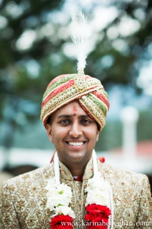 Indian-wedding-closeup-portrait-groom-tradtional-dress