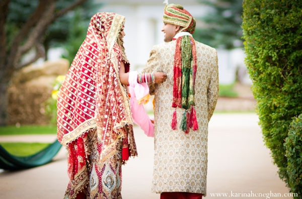 Indian-wedding-couple-after-ceremony-portraits