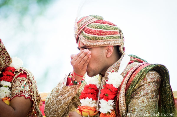 Indian-wedding-groom-tradtional-ritual-at-ceremony