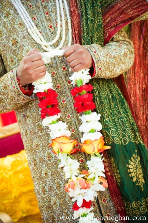 Indian-wedding-jai-mala-groom-colorful
