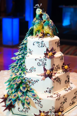 Indian-wedding-reception-cake-white