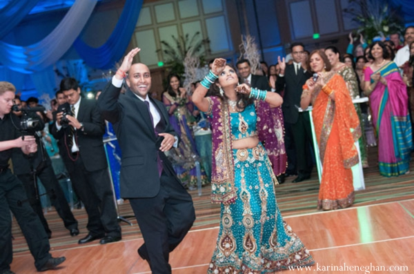 Indian-wedding-reception-dance-bride-groom
