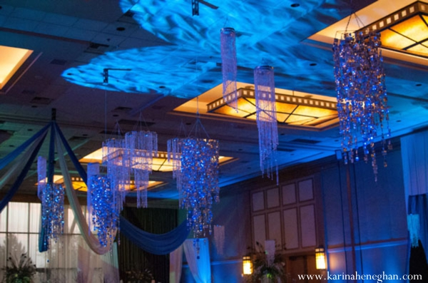 Indian-wedding-reception-venue-blue-lighting