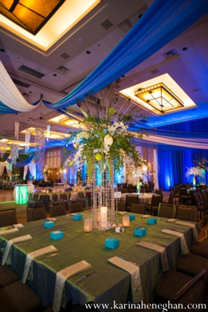 Indian-wedding-reception-venue-blue-llighitng