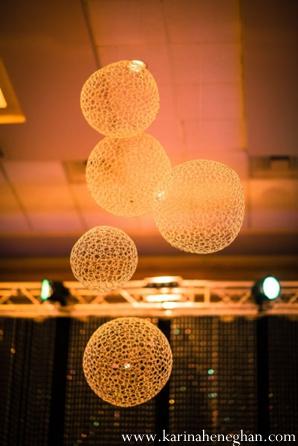 Indian-wedding-reception-venue-decor-lanterns-hanging