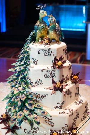 Indian-wedding-reception-wedding-cake-decor