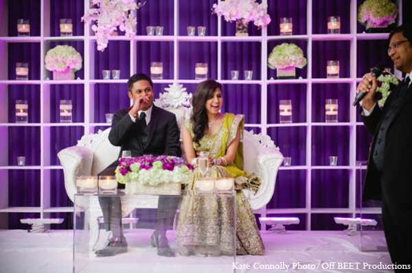 Indain wedding reception floral in Rockleigh, New Jersey Indian Wedding by Kate Connolly Photography