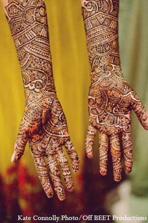 Indian bridal mehndi in Rockleigh, New Jersey Indian Wedding by Kate Connolly Photography