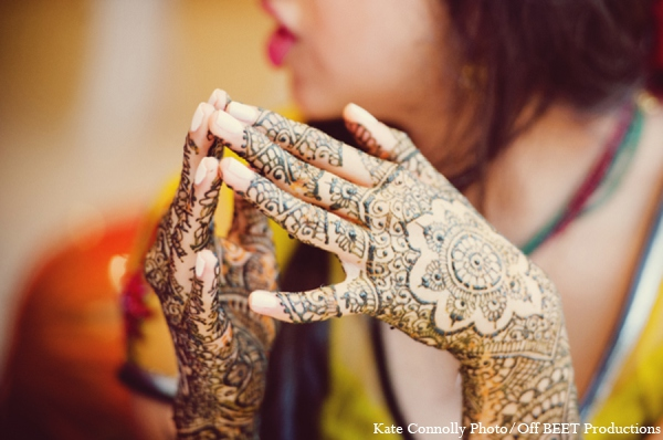 Indian bride mehndi in Rockleigh, New Jersey Indian Wedding by Kate Connolly Photography
