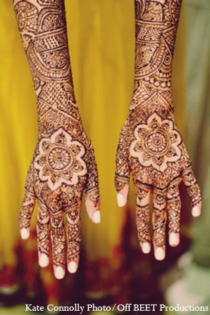 Indian wedding bridal mehndi in Rockleigh, New Jersey Indian Wedding by Kate Connolly Photography