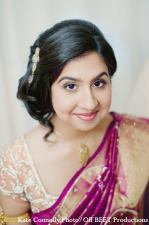 Indian wedding bridal portrait in Rockleigh, New Jersey Indian Wedding by Kate Connolly Photography