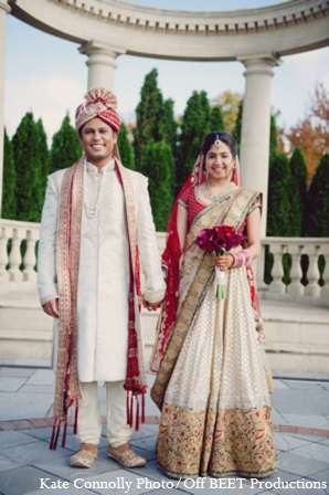 Indian wedding bride groom photos in Rockleigh, New Jersey Indian Wedding by Kate Connolly Photography