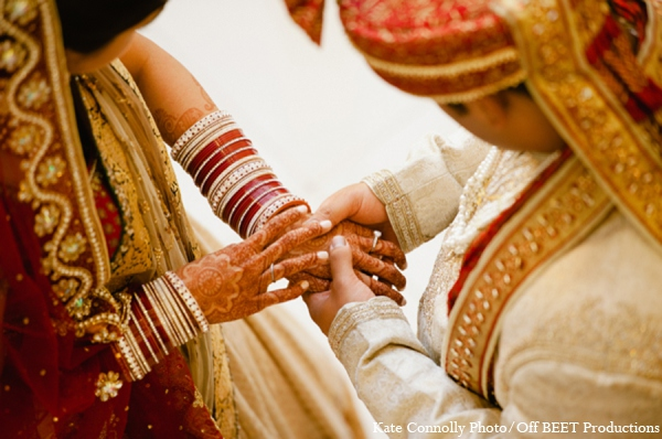 Indian wedding bride groom picture in Rockleigh, New Jersey Indian Wedding by Kate Connolly Photography
