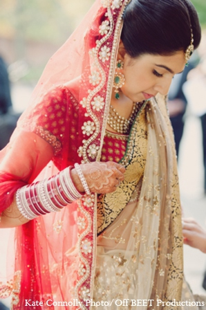 Indian wedding bride lehenga in Rockleigh, New Jersey Indian Wedding by Kate Connolly Photography
