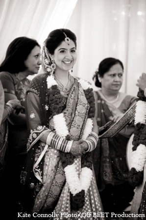 Indian wedding bride mandap in Rockleigh, New Jersey Indian Wedding by Kate Connolly Photography